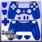 PS4 - Controller Behuizing (CHROME BLAUW)