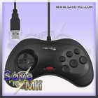 SEGA - USB PC Saturn Controller (ZWART)